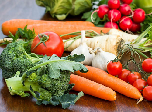 Fiber-rich vegetables