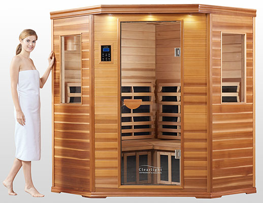 Three Person Corner Infrared Sauna