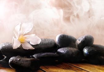 Sauna Hot Rocks With Flowers